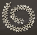 Silver & Vertu:Smalls & Jewelry, A MEXICAN SILVER NECKLACE. Héctor Aguilar, circa 1940. Marks: HA, 940, TAXCO. 15-1/4 inches long (38.7 cm). 3.01 troy ou...