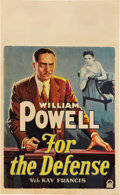 "Movie Posters:Drama, For the Defense (Paramount, 1930). Window Card (14"" X 22"").. ..."