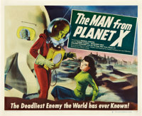 "The Man from Planet X (United Artists, 1951). Half Sheet (22"" X 28"") Style B"