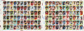Hockey Cards:Sets, 1986-87 O-Pee-Chee Uncut Proof Sheets Pair (2) With 132 Cards....