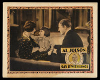 """Say It with Songs (Warner Brothers, 1929). Lobby Card (11"""" X 14""""). Musical"""