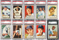 Baseball Cards:Lots, 1952 Topps Baseball High End Graded Collection (10). ...