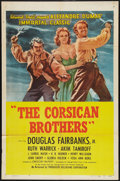 "Movie Posters:Adventure, The Corsican Brothers (PRC, R-1947). One Sheet (27"" X 41"").Adventure.. ..."