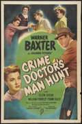 "Movie Posters:Mystery, The Crime Doctor's Man Hunt (Columbia, 1946). One Sheet (27"" X41""). Mystery.. ..."