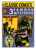 Golden Age (1938-1955):Classics Illustrated, Classic Comics #21 (1A) 3 Famous Mysteries - Original Edition (Gilberton, 1944) Condition: VG....