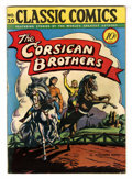 Golden Age (1938-1955):Classics Illustrated, Classic Comics #20 The Corsican Brothers - Original Edition(Gilberton, 1944) Condition: VG+....