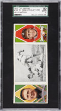 "Baseball Cards:Singles (Pre-1930), 1912 T202 Hassan Triple Folder ""Ty Cobb Steals Third"" #129Cobb/Jennings SGC 80 EX/NM 6...."