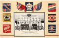 Hockey Collectibles:Photos, 1941-42 Toronto Maple Leafs Presentational Team Photo Display....