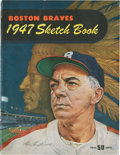 Baseball Collectibles:Publications, 1947 Boston Braves Sketch Book....