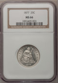 Seated Quarters, 1877 25C MS66 NGC....