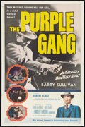 """Movie Posters:Crime, The Purple Gang (Allied Artists, 1959). One Sheet (27"""" X 41""""). Crime.. ..."""
