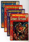 Golden Age (1938-1955):Science Fiction, Incredible Science Fiction Group (EC, 1955-56) Condition: AverageVG.... (Total: 4 Comic Books)