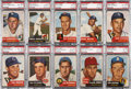 Baseball Cards:Lots, 1953 Topps Baseball PSA-Graded NM-MT 8 and NM-MT+ 8.5 Collection(10). ...