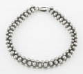 Silver Smalls:Other , A MEXICAN BEADED SILVER NECKLACE. In the style of WilliamSpratling, Taxco, Mexico, circa 1940. Marks: unmarked. 14-1/2inch...