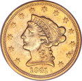 Liberty Quarter Eagles, 1841-D $2 1/2 XF45 PCGS....