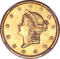 Gold Dollars, 1850-C G$1 --Improperly Cleaned--NGC. Unc Details....