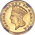 Gold Dollars, 1860-D G$1 --Improperly Cleaned--NGC. AU Details....