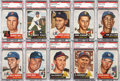 Baseball Cards:Lots, 1953 Topps Baseball High End Graded Collection (53)....