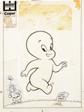 Original Comic Art:Covers, Casper the Friendly Ghost #50 Cover Original Art (Harvey,1956)....
