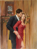Original Comic Art:Covers, Ed Tadiello Romance Paperback Cover Illustration Original Art(undated)....