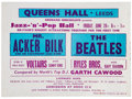 Music Memorabilia:Posters, The Beatles Vintage Queens Hall Handbill (1963)....