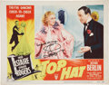 Movie/TV Memorabilia:Autographs and Signed Items, Fred Astaire and Ginger Rogers Autographed Top Hat Lobby Card....