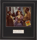 Movie/TV Memorabilia:Autographs and Signed Items, Lena Horne and Bill Robinson Stormy Weather Autograph Set....