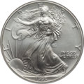 Modern Bullion Coins: , 1995 $1 Silver Eagle MS70 NGC. NGC Census: (76). PCGS Population(1). Mintage: 4,672,051. Numismedia Wsl. Price for problem...