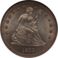 Seated Quarters: , 1879 25C MS64 NGC. NGC Census: (41/99). PCGS Population (35/76).Mintage: 13,600. Numismedia Wsl. Price for problem free NG...