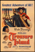 "Movie Posters:Adventure, Treasure Island (RKO, 1950). One Sheet (27"" X 41""). Adventure.. ..."