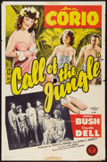 "Movie Posters:Adventure, Call of the Jungle (Monogram, 1944). One Sheet (27"" X 41"").Adventure.. ..."