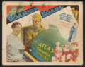 "Movie Posters:Sports, Roaring Roads (Ajax, 1935). Title Lobby Card and Lobby Card (11"" X 14""). Sports.. ... (Total: 2 Items)"