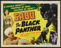 "Movie Posters:Adventure, The Black Panther (Howco, 1956). Half Sheet (22"" X 28"").Adventure.. ..."