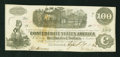 Confederate Notes:1862 Issues, T40 $100 1862 with Postal Cancellation.. ...