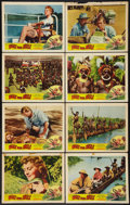 "Movie Posters:Adventure, Walk into Hell (Patric, 1957). Lobby Card Set of 8 (11"" X 14"").Adventure.. ... (Total: 8 Items)"