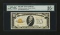 Small Size:Gold Certificates, Fr. 2400 $10 1928 Gold Certificate. PMG Choice Very Fine 35 EPQ.. ...