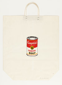 ANDY WARHOL (American, 1928-1987) Campbell's Soup Can on Shopping Bag, 1964 Color silkscreen on shop