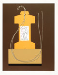 Prints, MAN RAY (American, 1890-1976). Untitled (Serpent) and Monument, 1968 (2). Lithograph . 23 x 17-1/2 inches ( 58.4 x 4...