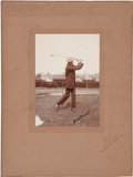 Golf Collectibles:Autographs, Circa 1910 James Braid Signed Cabinet Photograph....