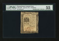 Colonial Notes:Pennsylvania, Pennsylvania April 25, 1776 20s PMG About Uncirculated 55....