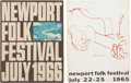 Music Memorabilia:Memorabilia, Newport Folk Festival 1965 and '66 Program Books.... (Total: 2Items)