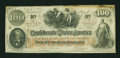 Confederate Notes:1862 Issues, J. Whatman Watermarked T41 $100 1862.. ...