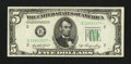 Small Size:Federal Reserve Notes, Fr. 1962-B* $5 1950A Federal Reserve Star Note. Extremely Fine.. ...
