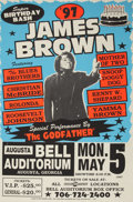 "Music Memorabilia:Posters, James Brown ""Super Birthday Bash"" Bell Auditorium Concert Poster(1997)...."