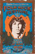 Music Memorabilia:Posters, The Doors Northern California Folk-Rock Festival Poster (Q. R.Productions, 1968)....