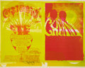 Music Memorabilia:Posters, Cream Uncut Press Proof Concert Poster BG-109/110, Signed by Mouse (Bill Graham, 1968)....