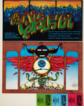 Music Memorabilia:Posters, Rick Griffin Signed Double Concert Poster Proof Sheet (Soundproof,1969)....