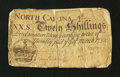 Colonial Notes:North Carolina, North Carolina March 9, 1754 20s Fine, backed....
