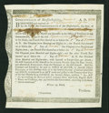 Colonial Notes:Massachusetts, Massachusetts 1784 Interest Due Treasury Certificate MA-34. VeryFine....