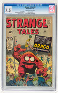 Silver Age (1956-1969):Adventure, Strange Tales #90 (Marvel, 1961) CGC VF- 7.5 Cream to off-white pages....